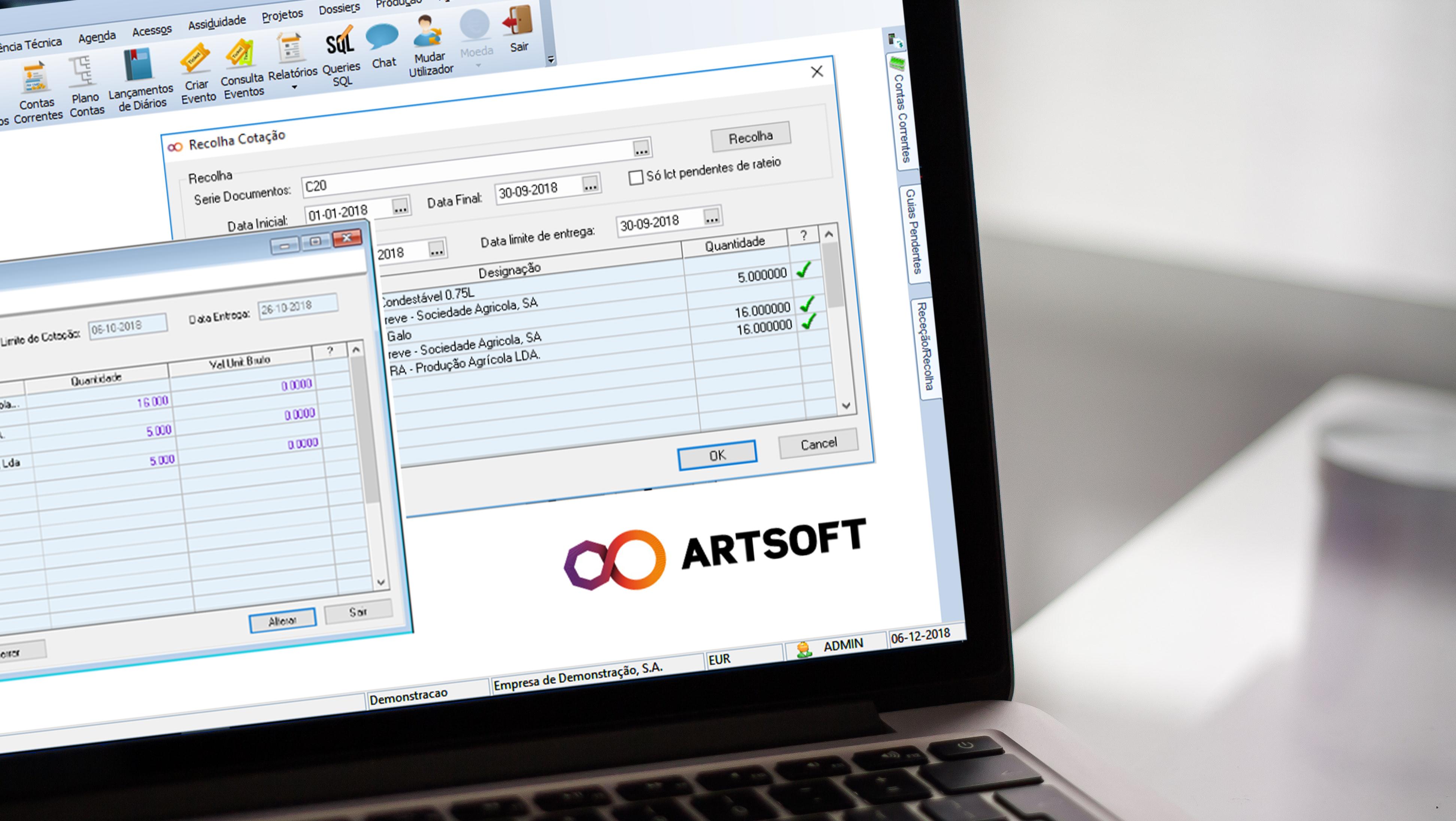 Curso Aplicações Informáticas Contabilidade-Software ARTSOFT(25H)-5sem(2ºedição)